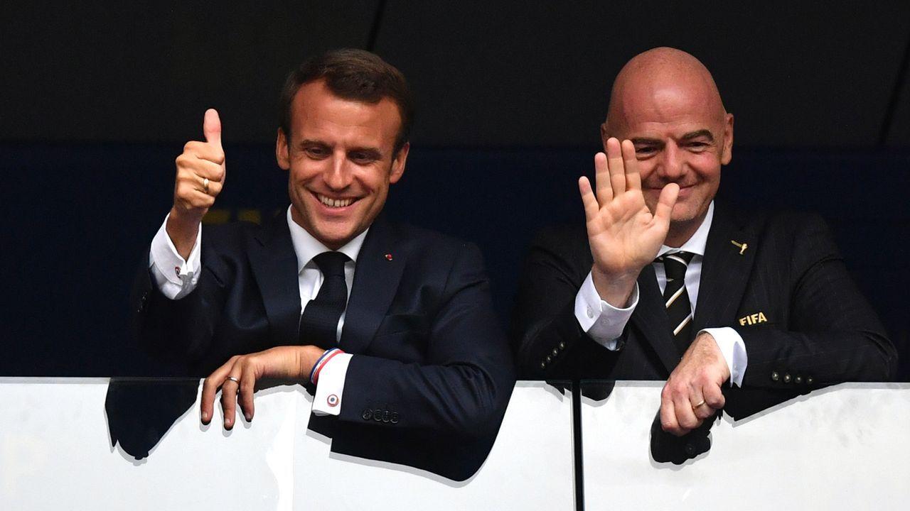 Macron und Infantino - Bildquelle: 2018 Getty Images