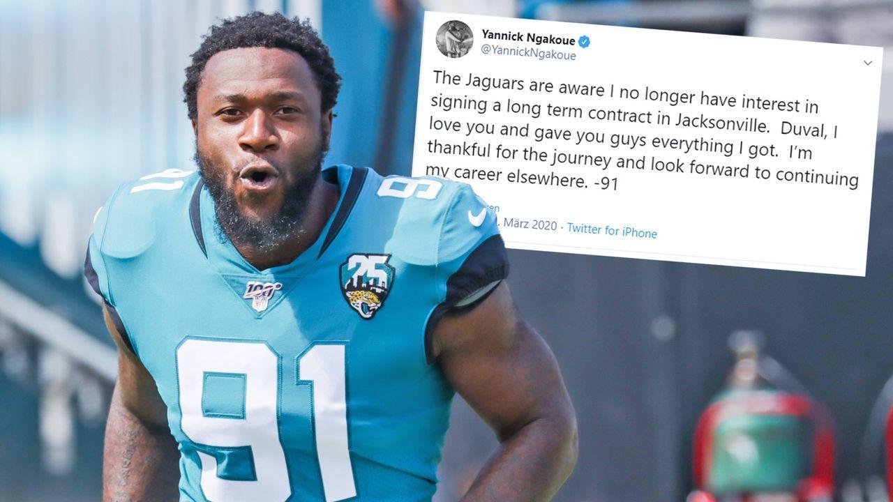 Yannick Ngakoue verkündet Abschied aus Jacksonville über Twitter - Bildquelle: Getty / twitter.com/YannickNgakoue
