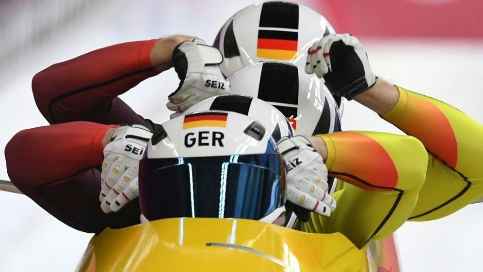 Die deutschen Viererbobs belegten Platz vier - Bildquelle: AFPSIDMARK RALSTON