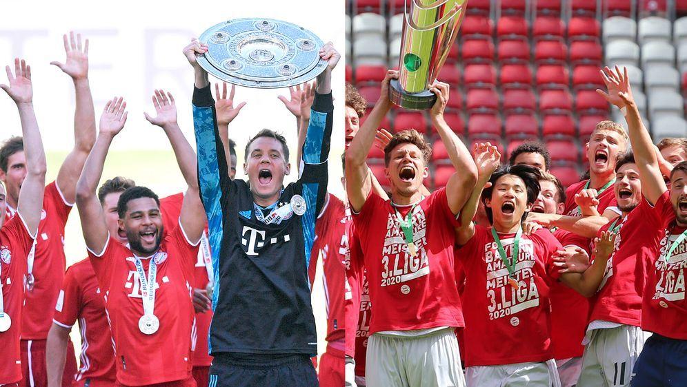 Ein Double der besonderen Art: Der FC Bayern München gewann die Meisterschaf... - Bildquelle: imago