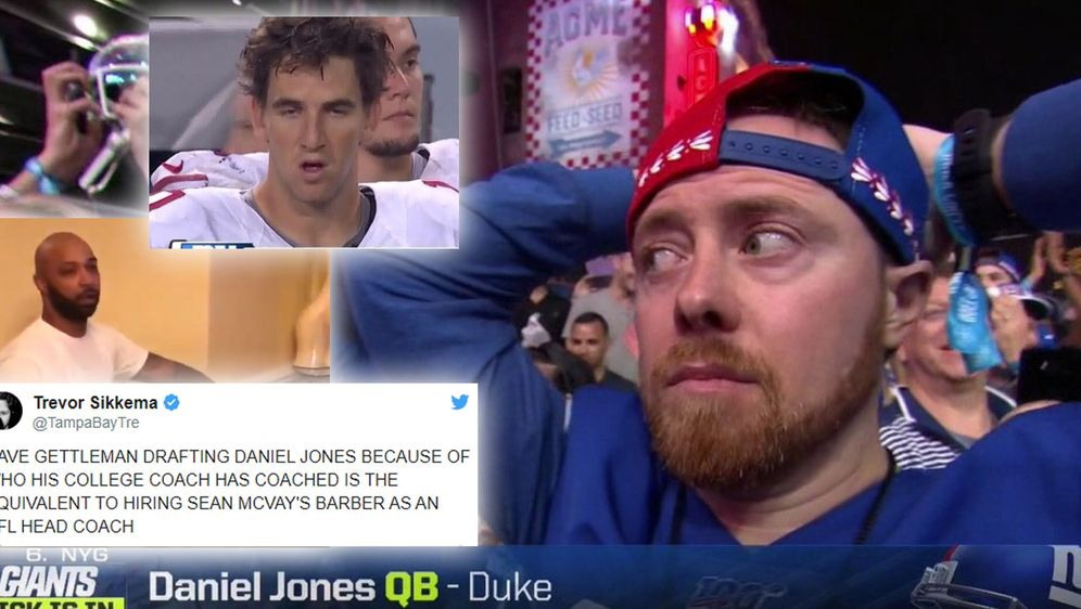 Die Fans der New York Giants reagierten mit Schok auf den Draftpick ihres Te... - Bildquelle: Twitter
