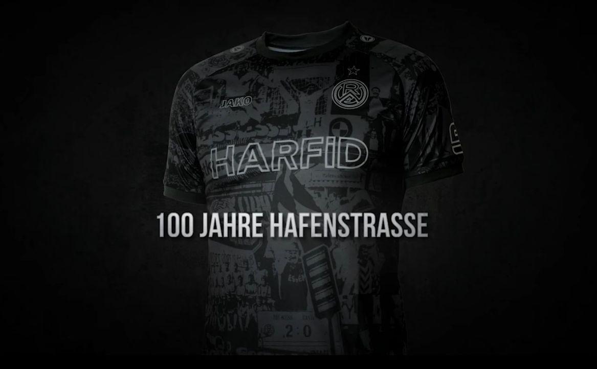 100 Jahre Hafenstraße! Das Sondertrikot von Rot-Weiss Essen - Bildquelle: Screenshot / Facebook @Rot.Weiss.Essen1907