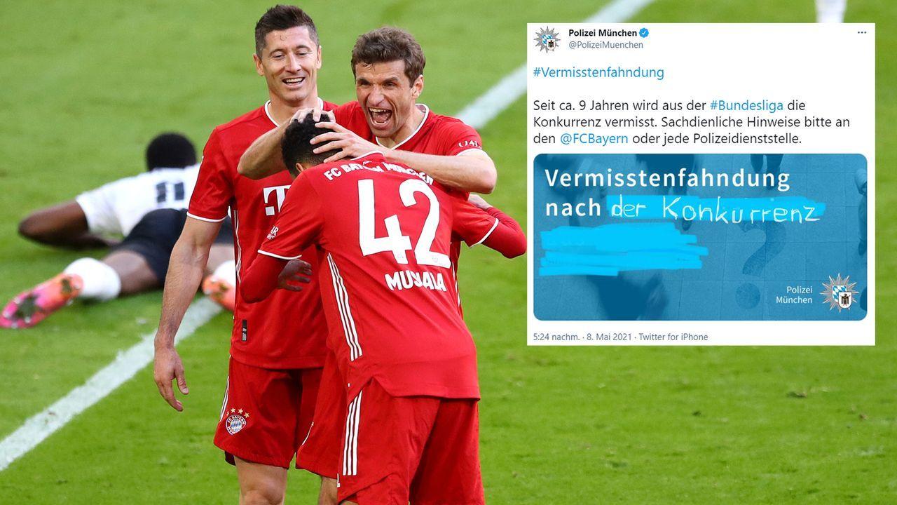 Münchner Polizei: Fahndung nach Konkurrenz für den FC Bayern - Bildquelle: Imago/twitter@PolizeiMuenchen