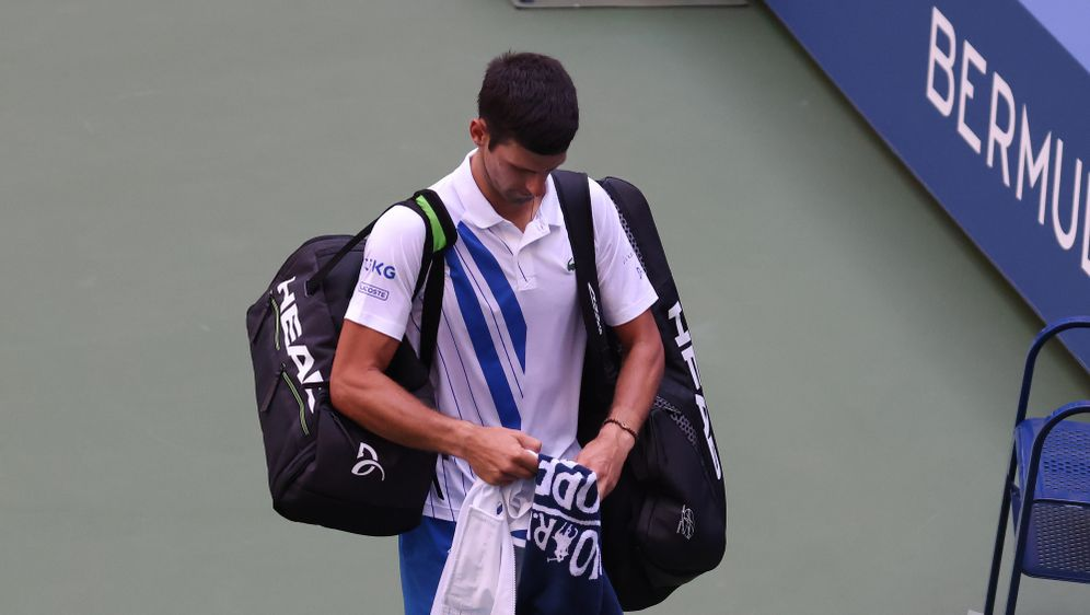 Unrühmlicher Abgang bei den US Open: Novak Djokovic verlässt den Platz, nach... - Bildquelle: 2020 Getty Images