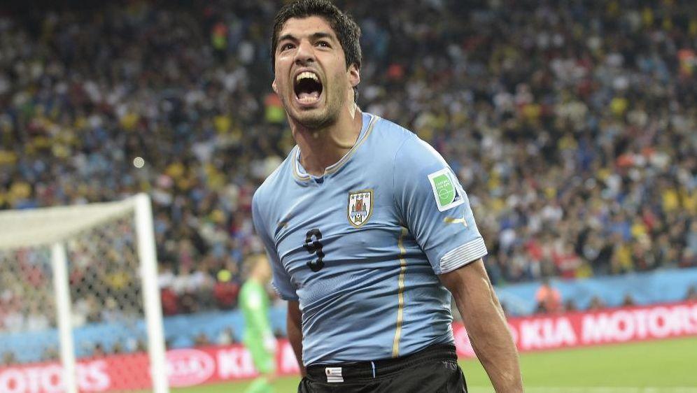 Luis Suarez traf doppelt gegen England - Bildquelle: SID-SID-AFP