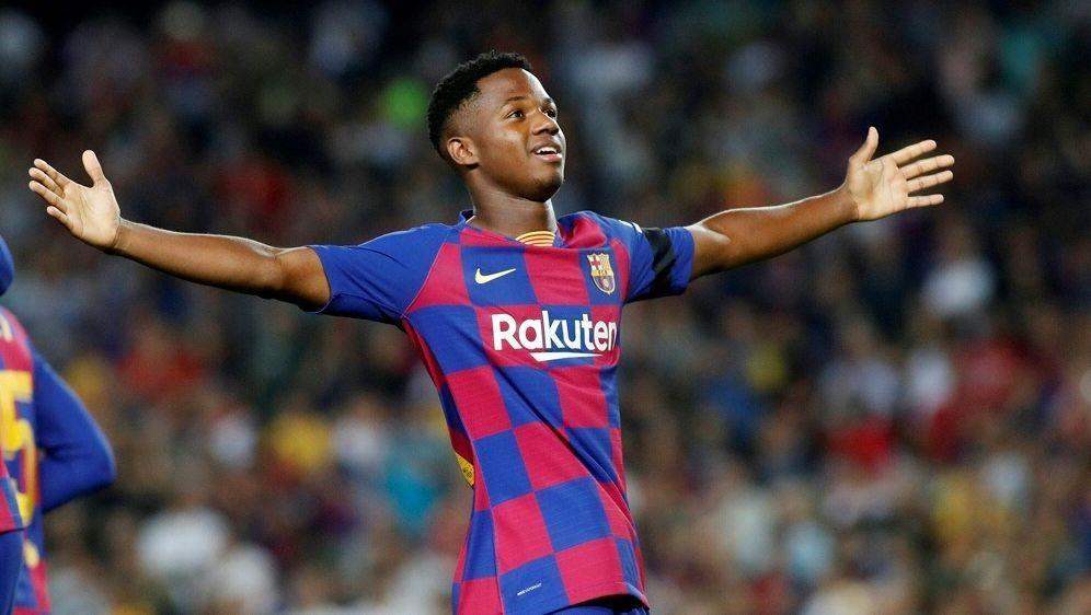 Barca bessert Vertrag mit Supertalent Ansu Fati nach - Bildquelle: PIXATHLONPIXATHLONSID