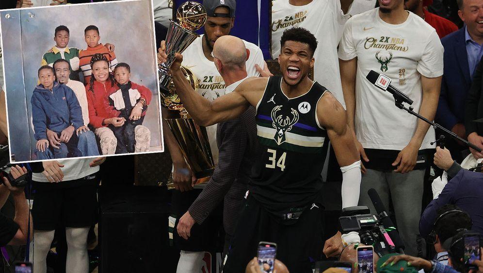Giannis Antetokounmpo hat die Milwaukee Bucks zur NBA-Championship geführt. - Bildquelle: Getty Images/Thanasis Antetokounmpo