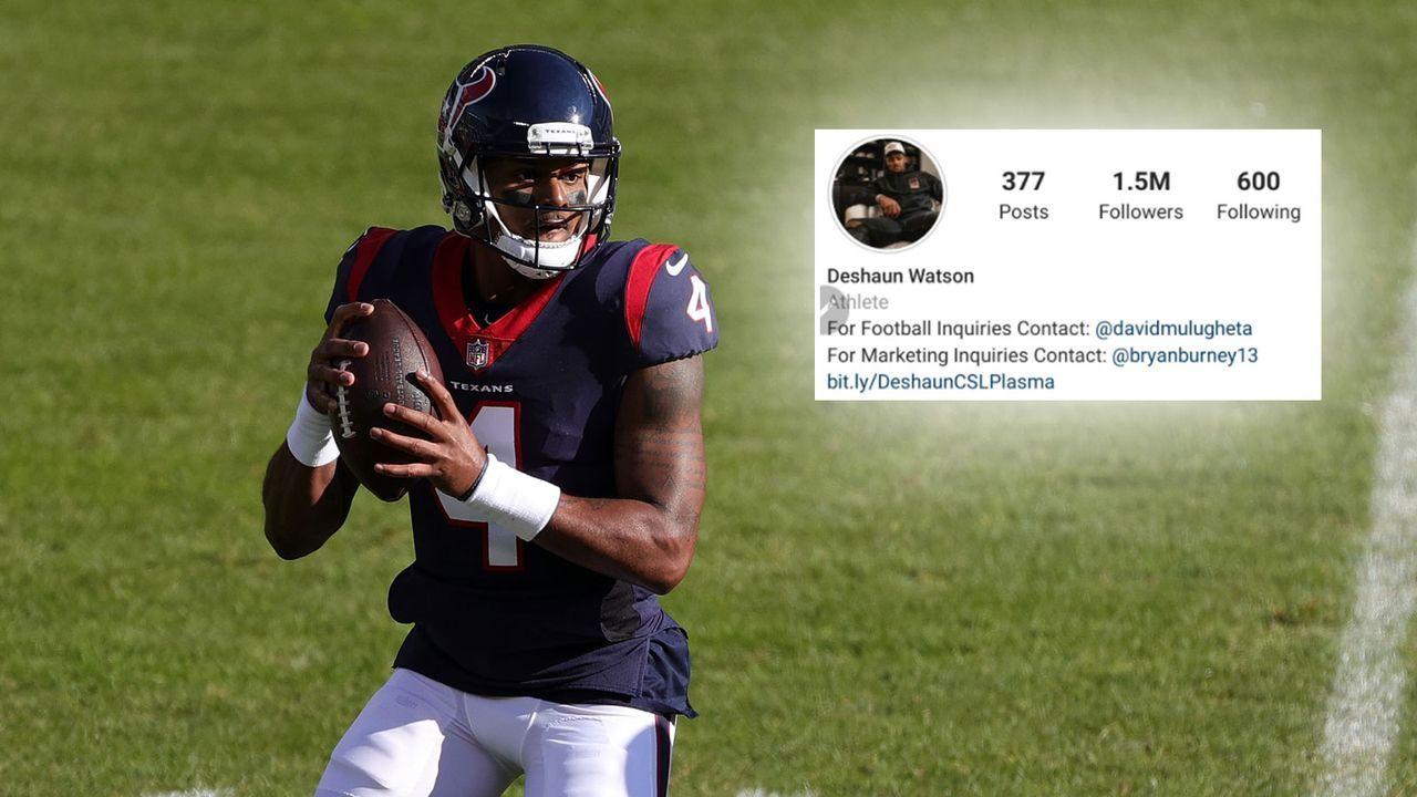 Watson entfernt die Texans aus seinen Social-Media-Kanälen - Bildquelle: Getty Images / Instagram @DeshaunWatson