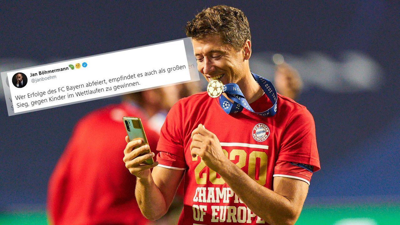 Jan Böhmermann macht sich über Bayern-Fans lustig - Bildquelle: Imago/Twitter:Jan Böhmermann