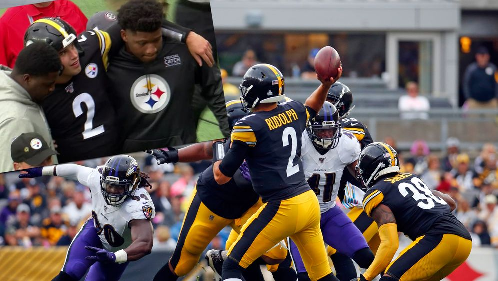 Mason Rudolph konnte die Partie gegen die Baltimore Ravens wegen einer Kopfv... - Bildquelle: 2019 Getty images