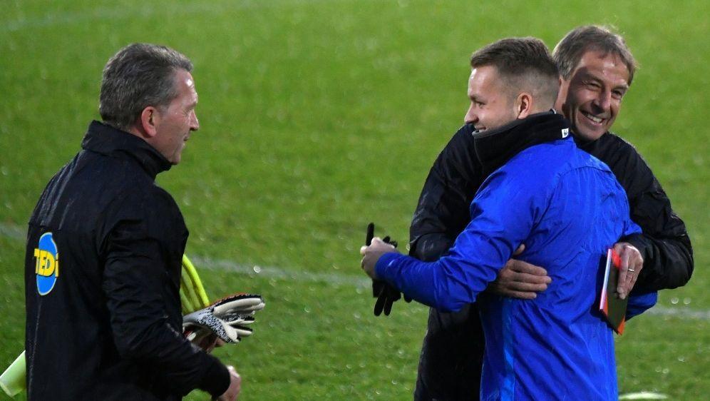 Andreas Köpkes (l.) Kurzzeit-Engagement bei Hertha endet - Bildquelle: AFPAFPJohn MACDOUGALL