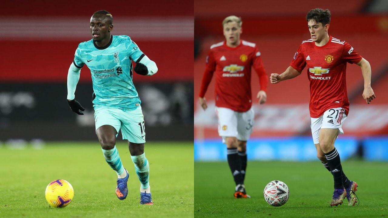 Rechtsaußen: Sadio Mane versus Daniel James - Bildquelle: Getty Images