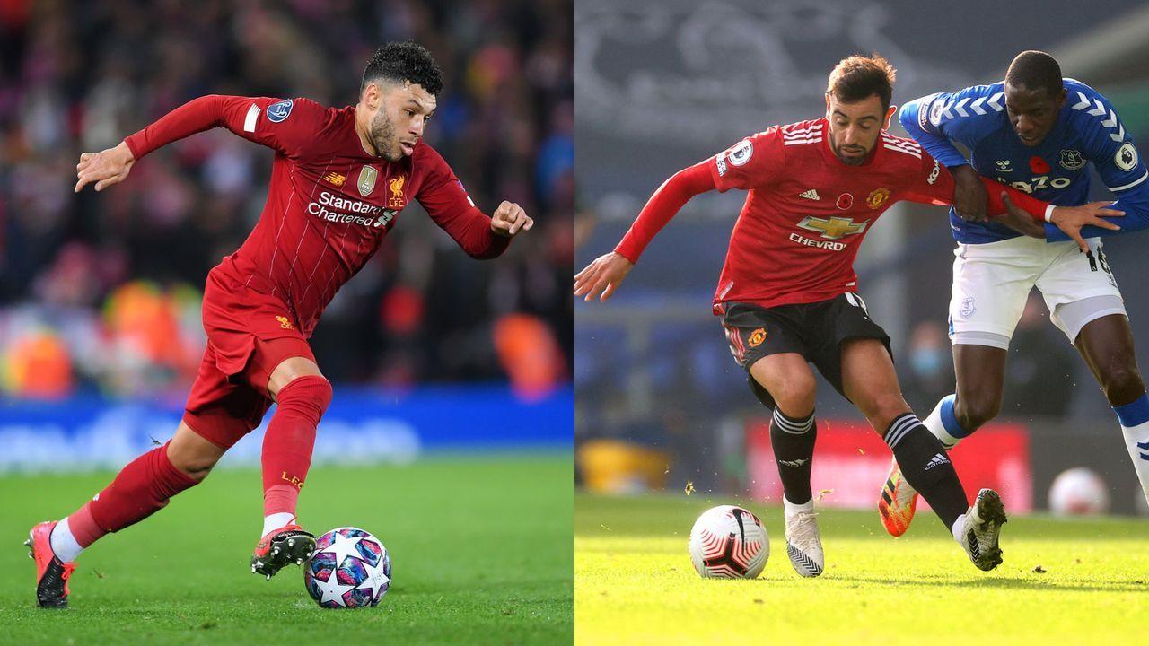 Offensives Mittelfeld: Alex Oxlade-Chamberlain versus Bruno Fernandes  - Bildquelle: Getty Images