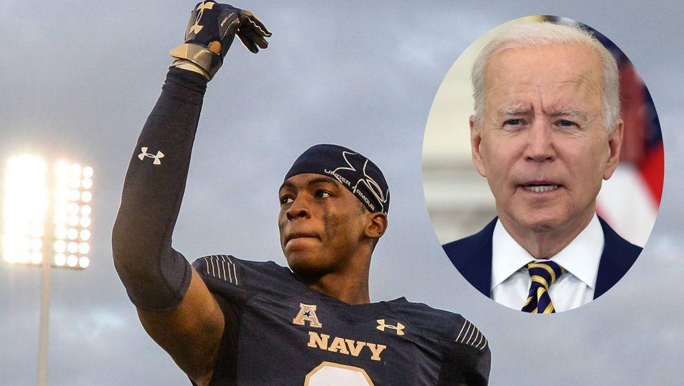 Cameron Kinley darf nun hoffen, dass der US-Präsident Joe Biden seinen Traum... - Bildquelle: imago/ZUMA Press
