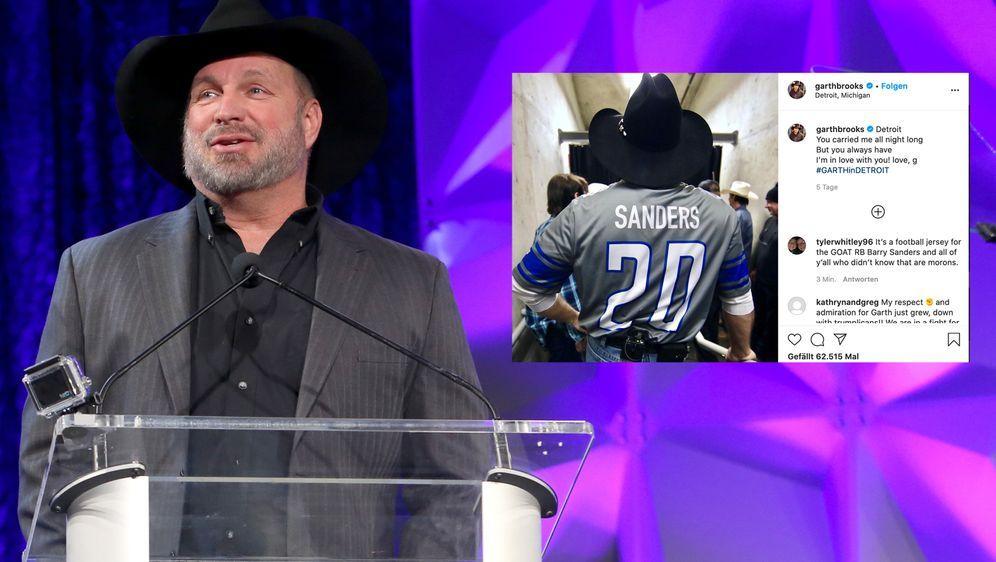 Für dieses Trikot kassierte Garth Brooks den Shitstorm. - Bildquelle: 2020 Getty Images