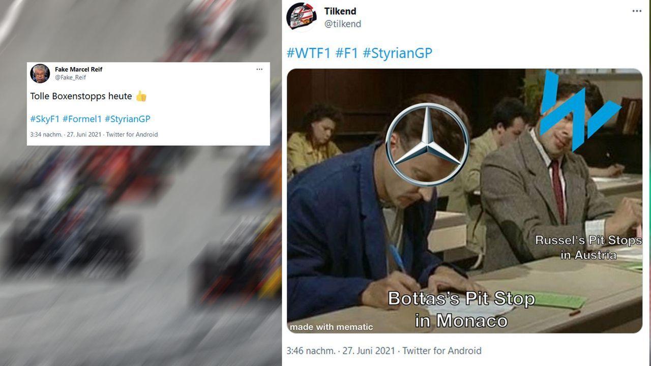 F1-Netzreaktionen: Boxenstopps wollen gelernt sein - Bildquelle: Getty Images, Twitter