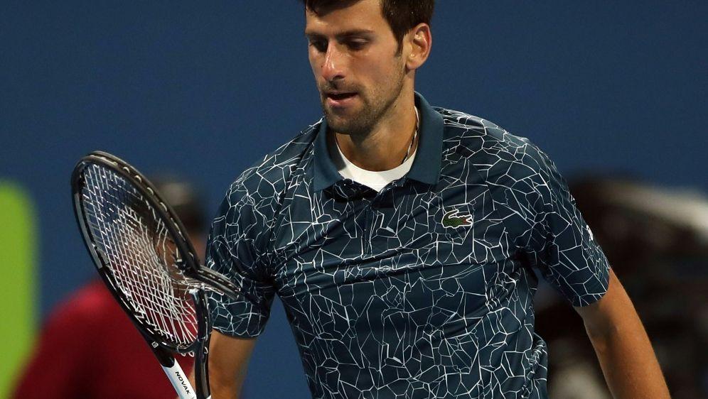 War unzufrieden mit seiner Leistung: Novak Djokovic - Bildquelle: AFPSIDKARIM JAAFAR