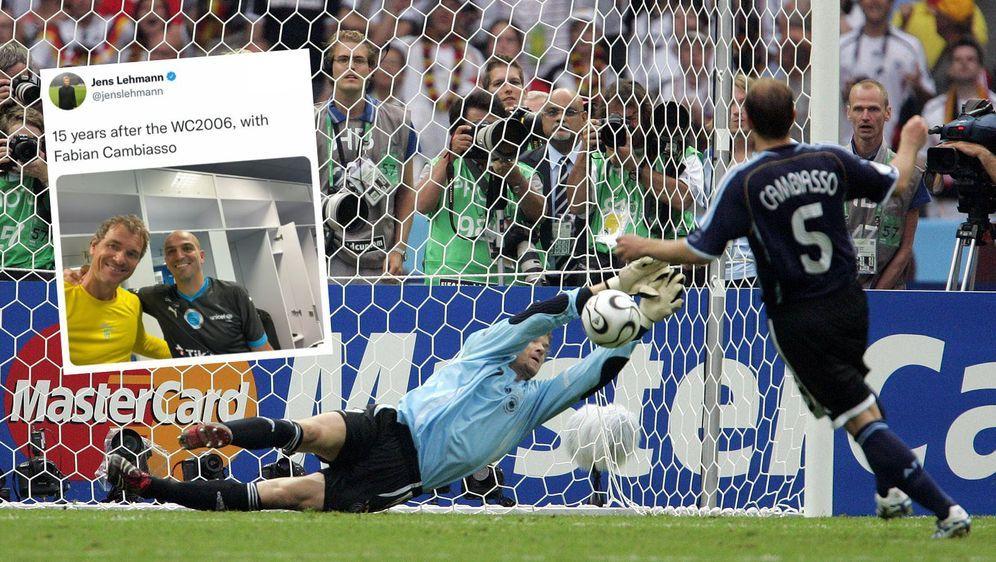 Bei der WM 2006 hielt Jens Lehmann einen Elfmeter gegen Esteban Cambiasso, 1... - Bildquelle: imago