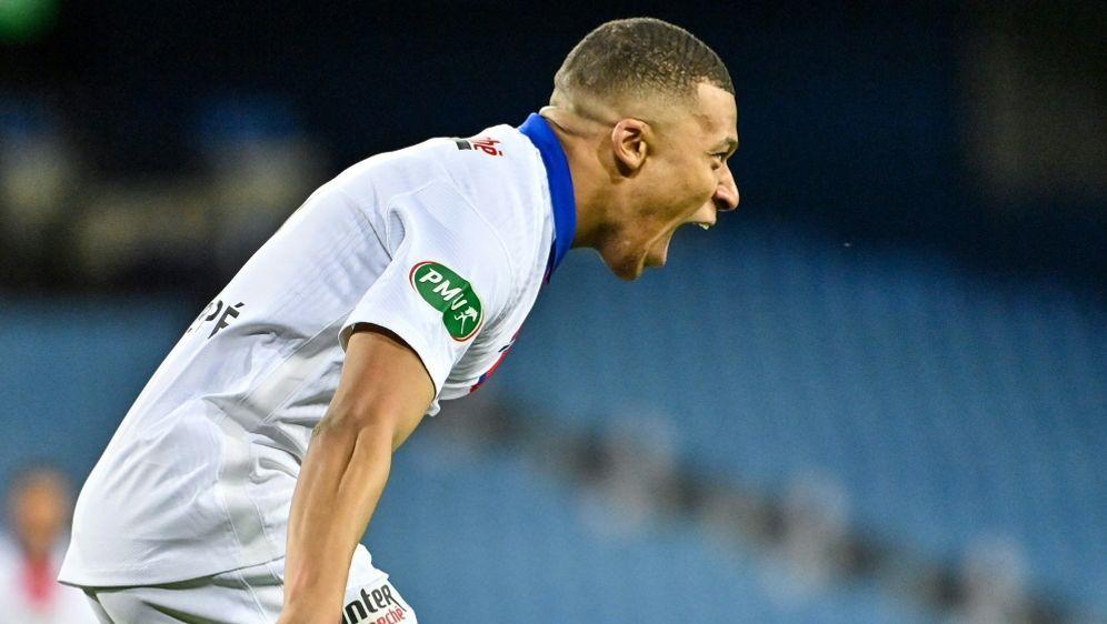 Traf doppelt beim Einzug ins Pokalfinale: Kylian Mbappe. - Bildquelle: AFPSIDPASCAL GUYOT
