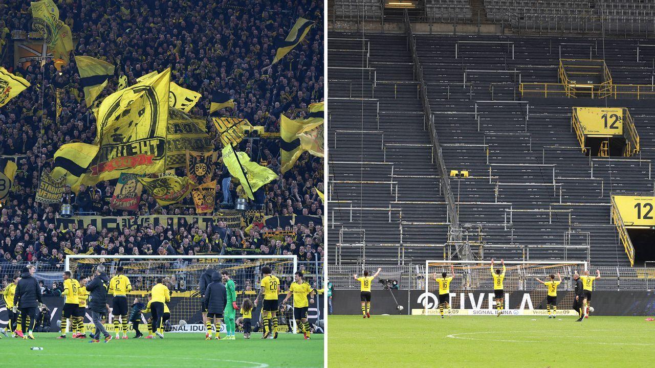 Die Fans: Volles Stadion vs. leere Tribünen - Bildquelle: imago images