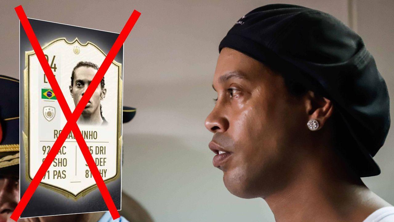 Nach Gefängnis-Aufenthalt: Ronaldinho könnte aus FIFA 20 gestrichen werden - Bildquelle: imago ; futhead.com