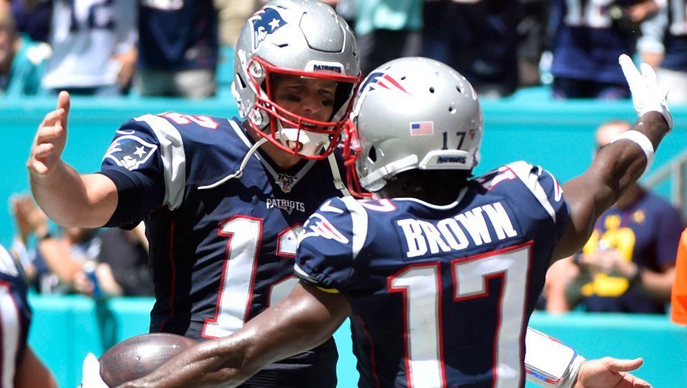 Tom Brady: Zwischen den Zeilen warme Worte für Antonio Brown. - Bildquelle: Getty
