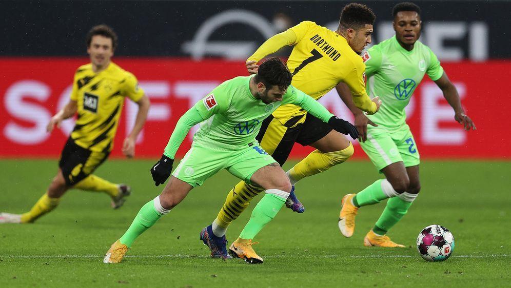 Jadon Sancho könnte gegen Wolfsburg sein Startelf-Comeback geben. - Bildquelle: 2021 Getty Images