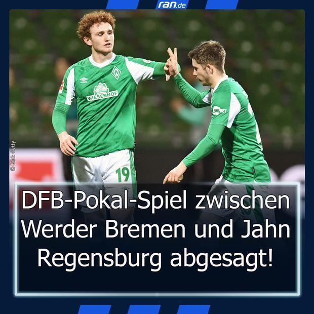 Link in Bio Bremen Pokal-Absage