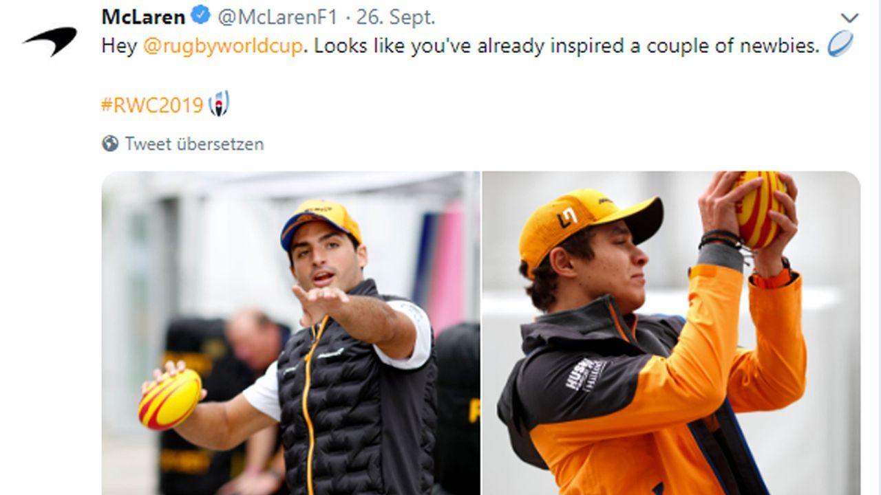 Lando Norris und Carlos Sainz - Bildquelle: Twitter: McLarenF1