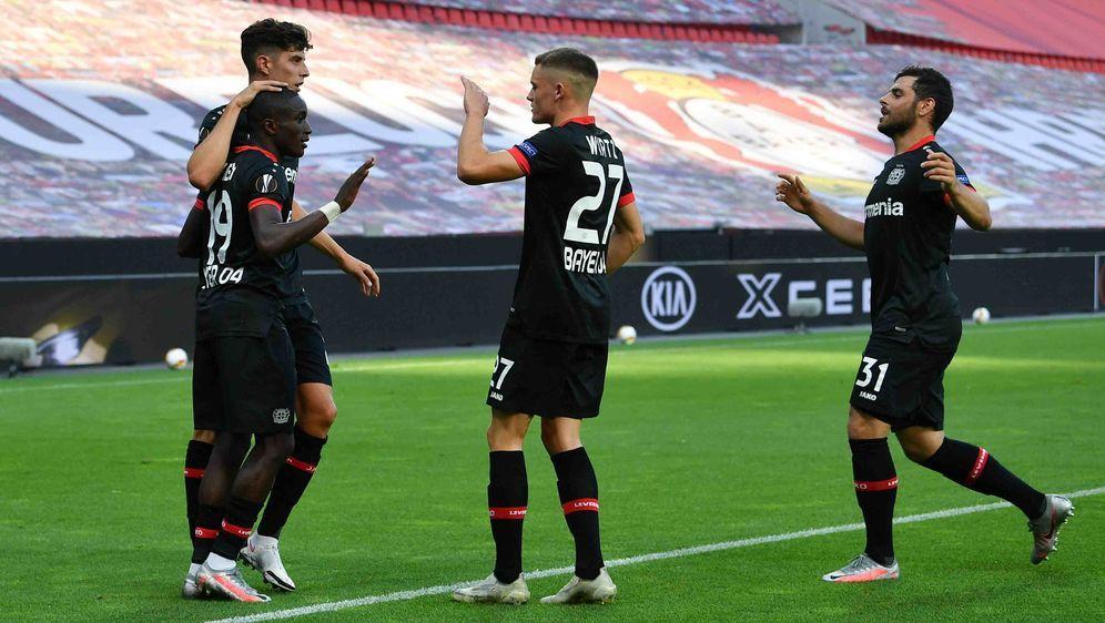 Konnten sich über den Heimsieg freuen: Die Stars von Bayer Leverkusen. - Bildquelle: imago