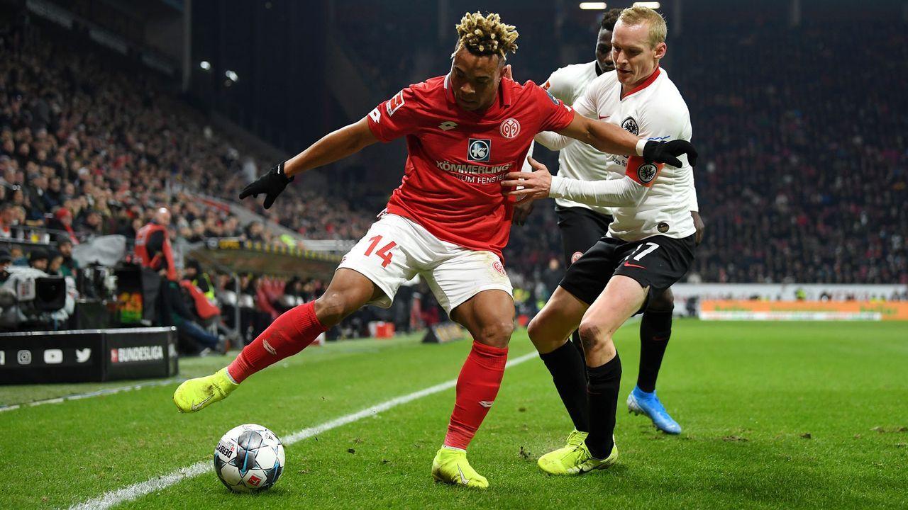 Eintracht Frankfurt (35 Punkte, -4 Tore) - 1. FSV Mainz 05 (28 Punkte, -25 Tore) - Bildquelle: Getty Images