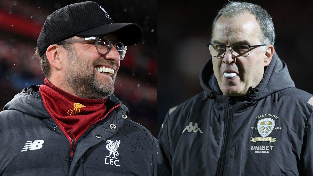Die Trainer Jürgen Klopp (li., Liverpool) und Marcelo Bielsa (re., Leeds) tr... - Bildquelle: Getty Images
