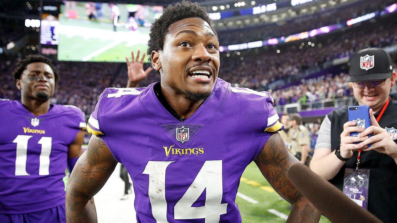 Platz 6 (geteilt): Stefon Diggs (Minnesota Vikings) - Bildquelle: 2018 Getty Images