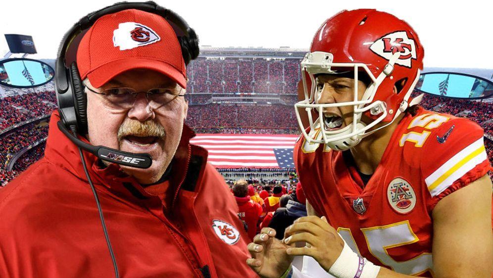 Head Coach Andy Reid möchte mit seinem jungen Quarterback Patrick Mahomes ei... - Bildquelle: Getty Images