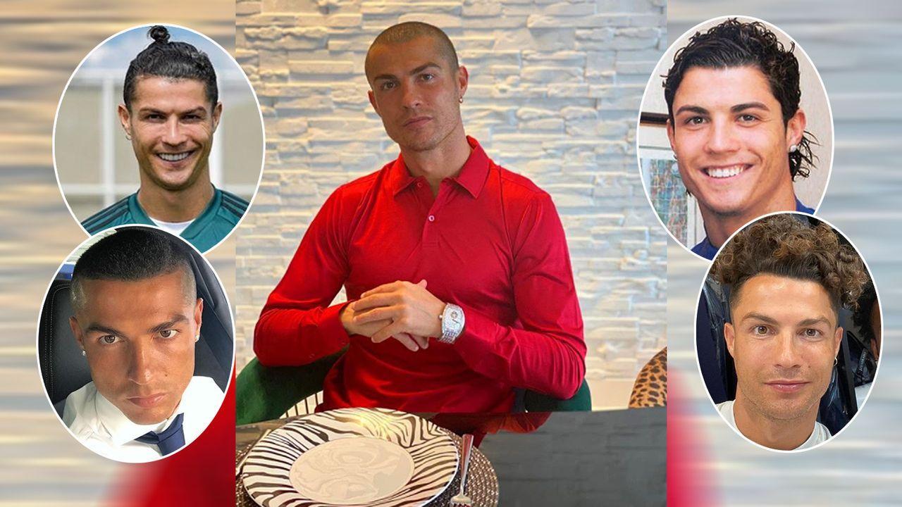 Jetzt mit Glatze: Die Frisuren-Trends von Cristiano Ronaldo - Bildquelle: cristiano/instagram