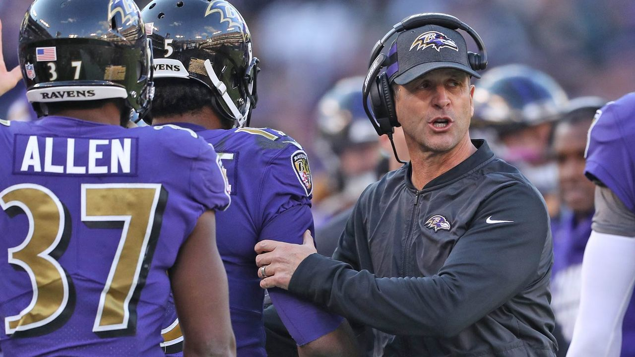 John Harbaugh (Head Coach Baltimore Ravens) - Bildquelle: 2018 Getty Images