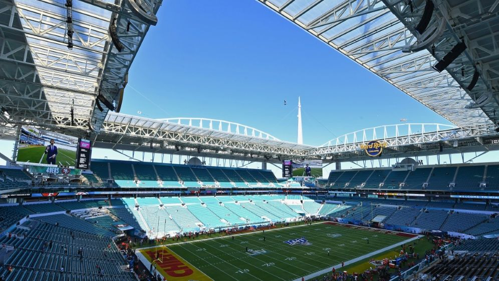 Das Hard Rock Stadium bietet Platz für 64.767 Zuschauer - Bildquelle: AFPSIDANGELA WEISS