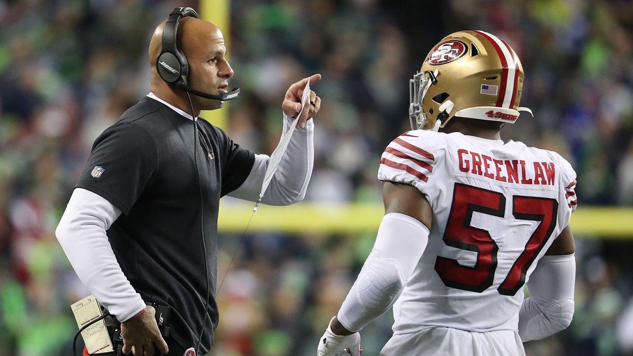 2017 wird Saleh Defensive Coordinator der 49ers - Bildquelle: 2019 Getty Images