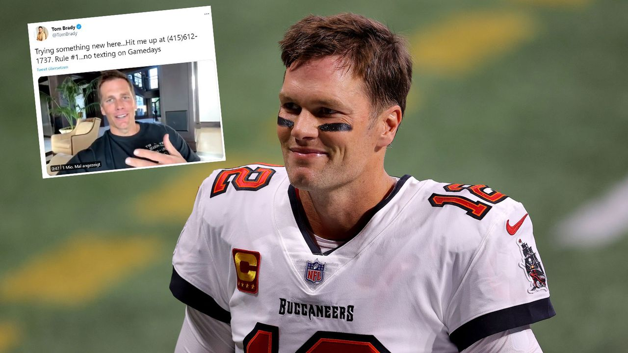 Tom Brady gibt Handynummer preis - Bildquelle: Getty Images/twitter.com/TomBrady