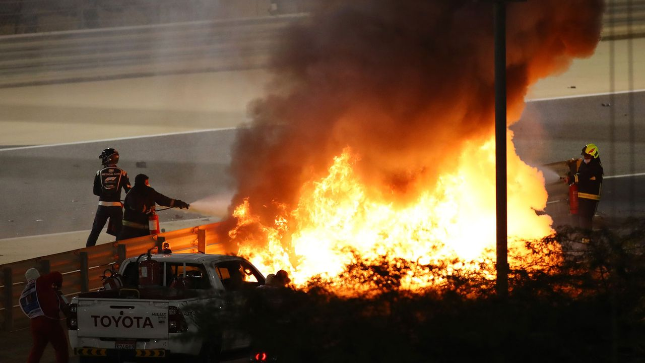 Der Horrorunfall von Romain Grosjean - Bildquelle: 2020 Getty Images