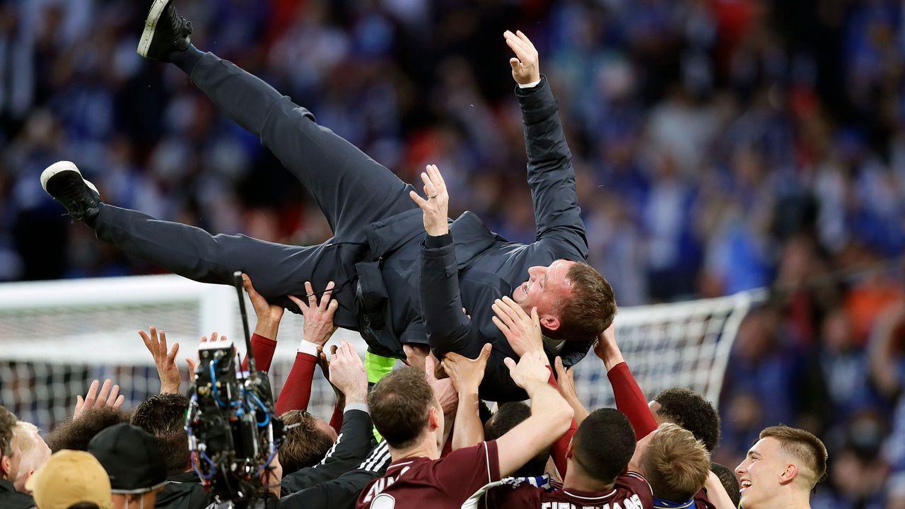 Titel-Premiere für Trainer Rodgers in England - Bildquelle: 2021 Getty Images