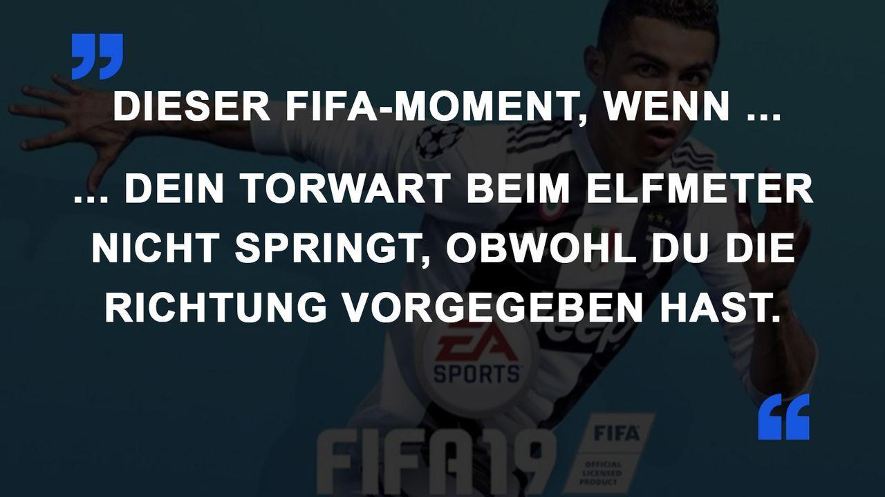 FIFA Momente Torwart springt nicht