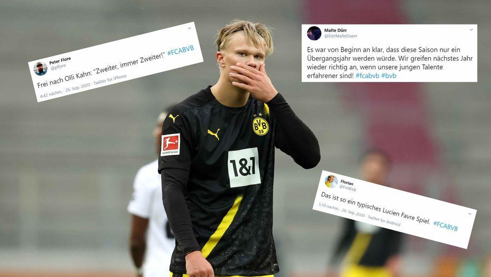 Für Erling Haaland und den BVB gab es beim FC Augsburg die erste Saisonniede... - Bildquelle: getty