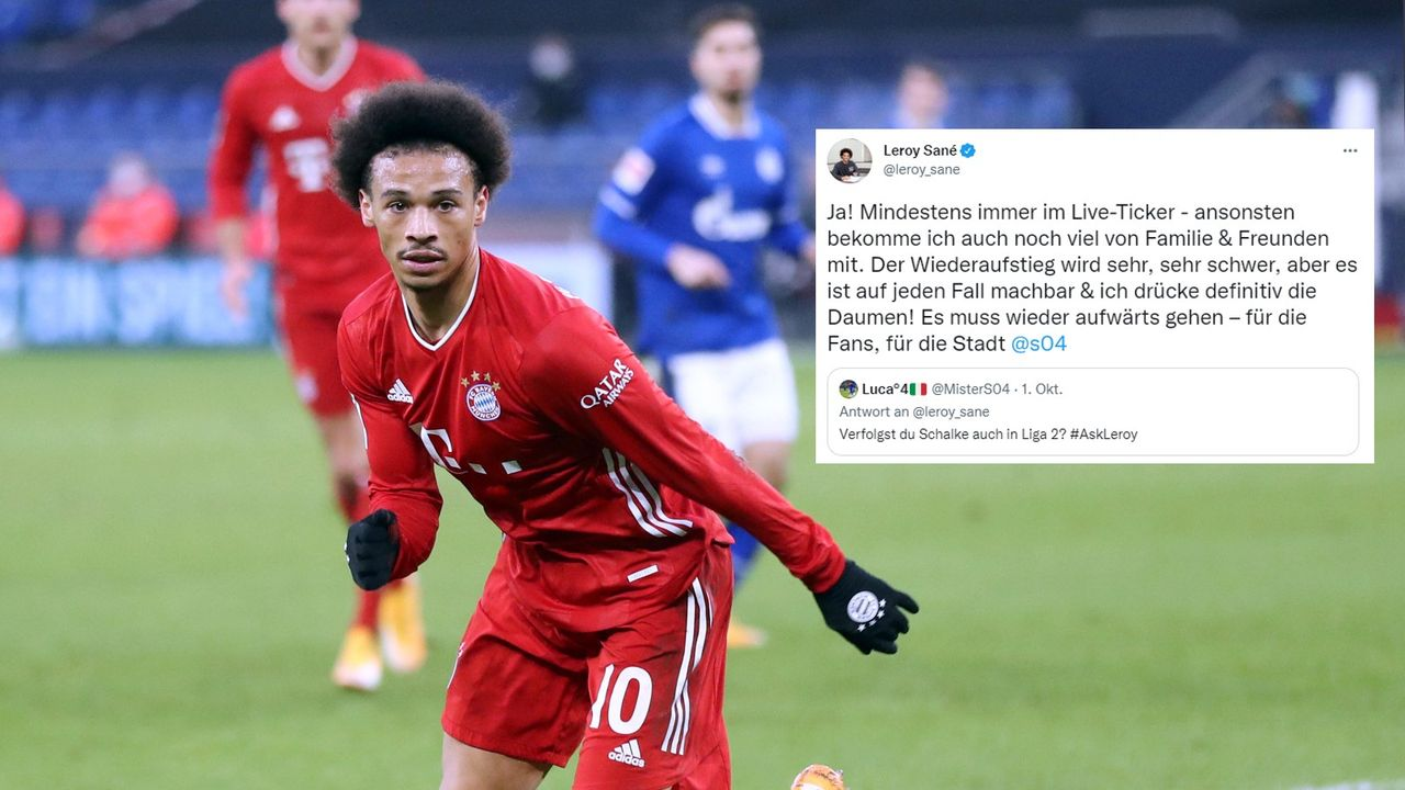 Auch in Liga 2! So intensiv verfolgt Sane die Schalker - Bildquelle: Imago/twitter.com/leroy_sane