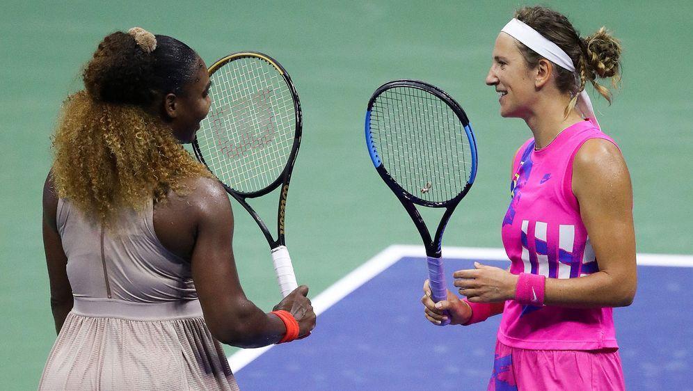 Serena Williams scheitert an Wiktoria Asarenka. - Bildquelle: AFPGETTYSIDMATTHEW STOCKMAN