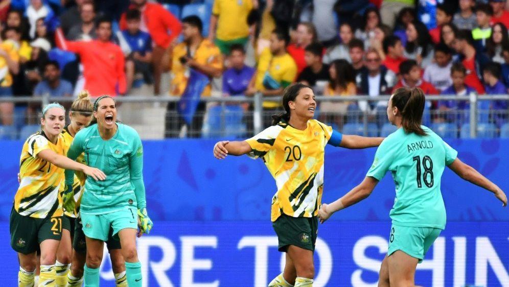 Frauen-WM: Australien dreht ein 2:0 von Brasilien - Bildquelle: AFPSIDPascal GUYOT