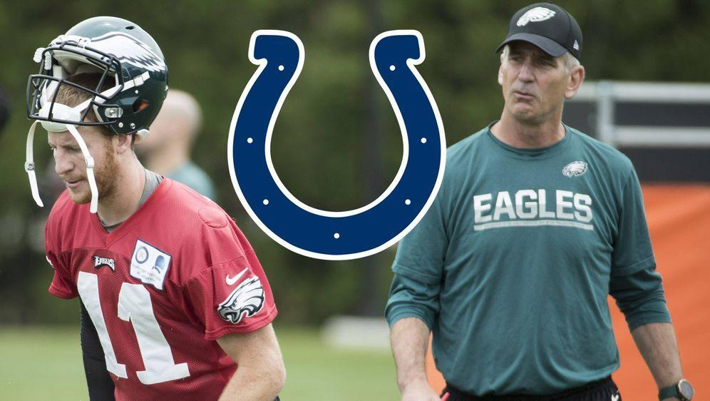 Carson Wentz und Frank Reich arbeiteten bereits bei den Philadelphia Eagles ... - Bildquelle: imago/ZUMA Press
