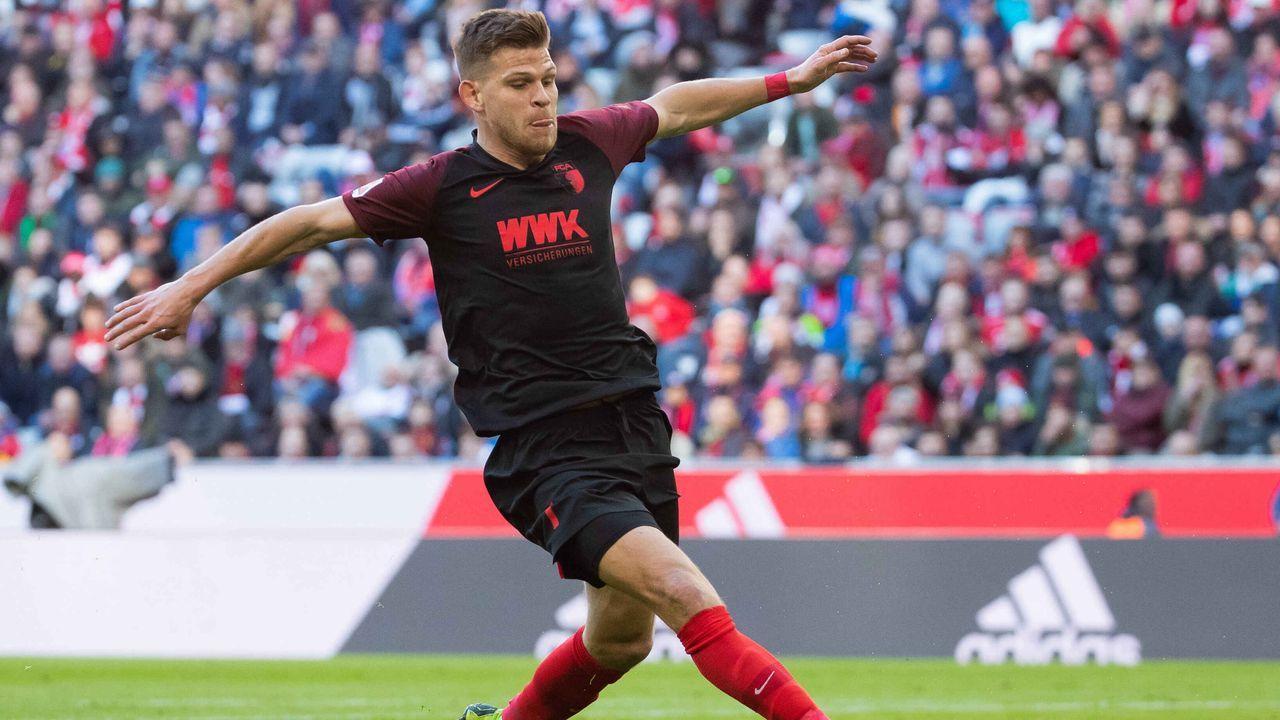 Platz 4: Florian Niederlechner (FC Augsburg) - Bildquelle: imago images/Eibner