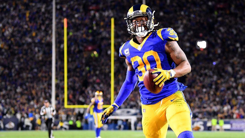 Rams-Running-Back Todd Gurley gibt sich vor dem Super Bowl zuversichtlich. D... - Bildquelle: Getty