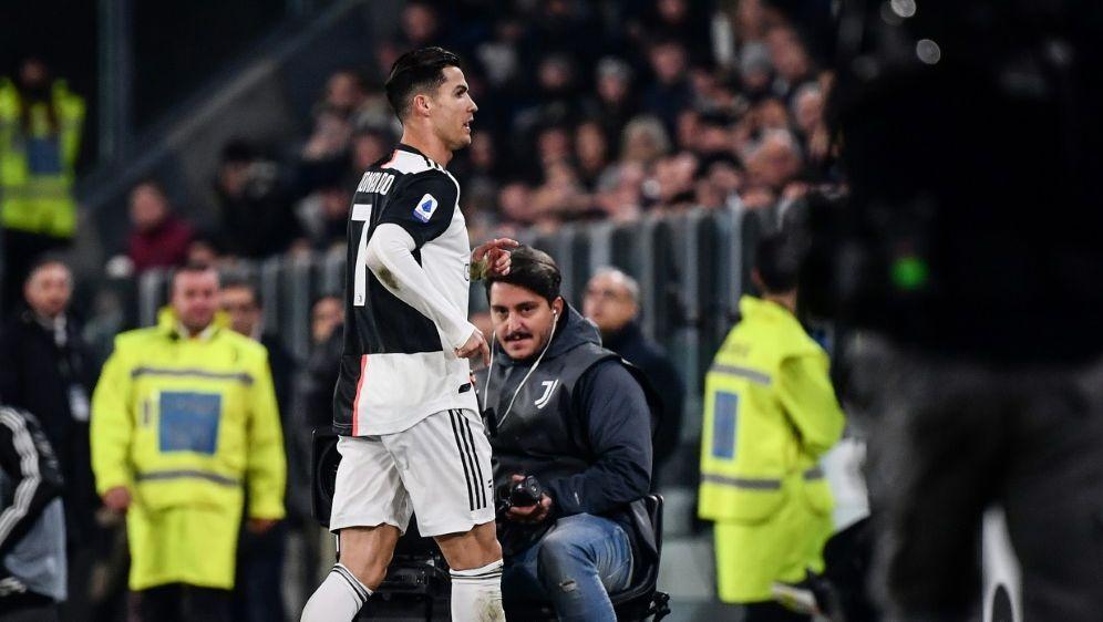 Musste vorzeitig vom Feld: Cristiano Ronaldo - Bildquelle: AFPAFPMarco Bertorello